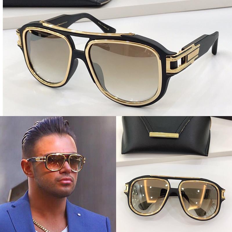 GM UV-Qualität Mode Sonnenbrillen Sechs Schutz für Top Sonnenbrille Planke Rechteckrahmen Klassischer Fall mit Komme mit Männern Beliebte vintag vurh