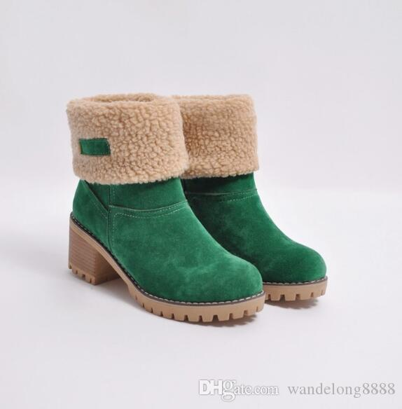 Free shipping autumn and winter new Europe and America Large size 414243 low boots and velvet warm large size thick with casual students fla