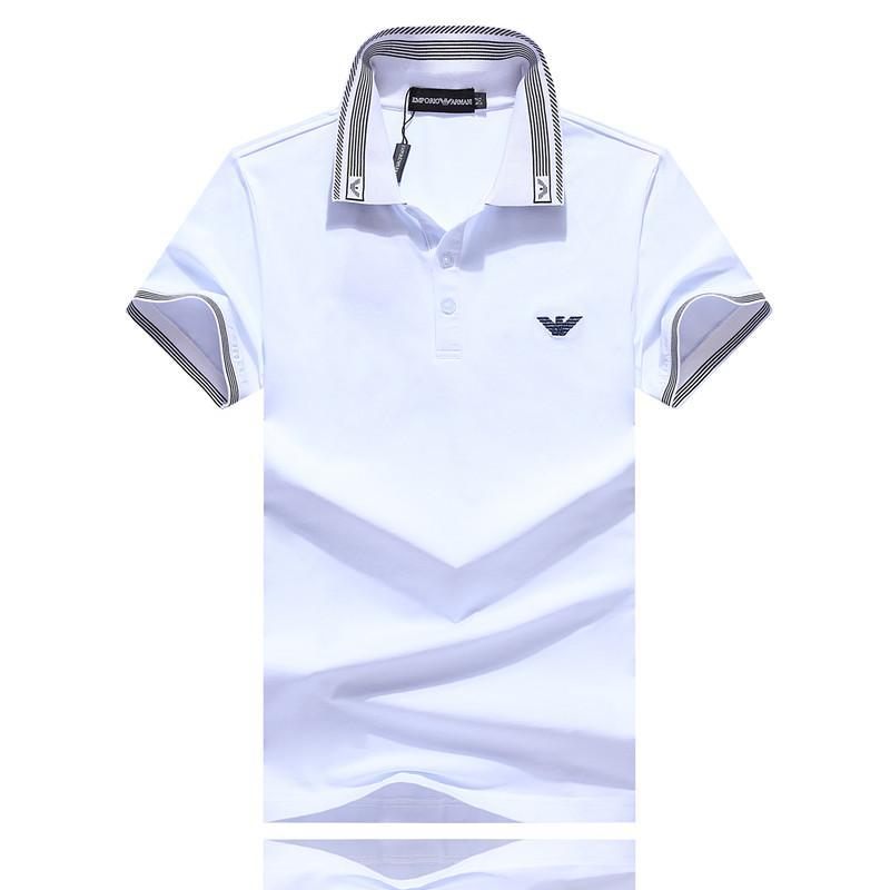 Polo de nouveaux hommes de concepteur T-shirt 2019 nouveau T-shirt couleur Polo rayé hommes casual hommes à la mode été m-3XL taille # 006
