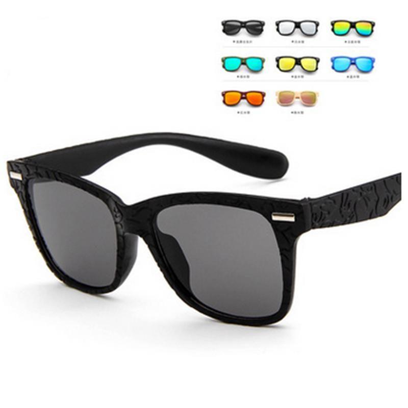 Rilixes New Kids gafas de sol de marca Diseño de los vidrios de Sun para los niños de los muchachos de moda las niñas Eyewares lente protección UV 400 con el bolso QyBVy