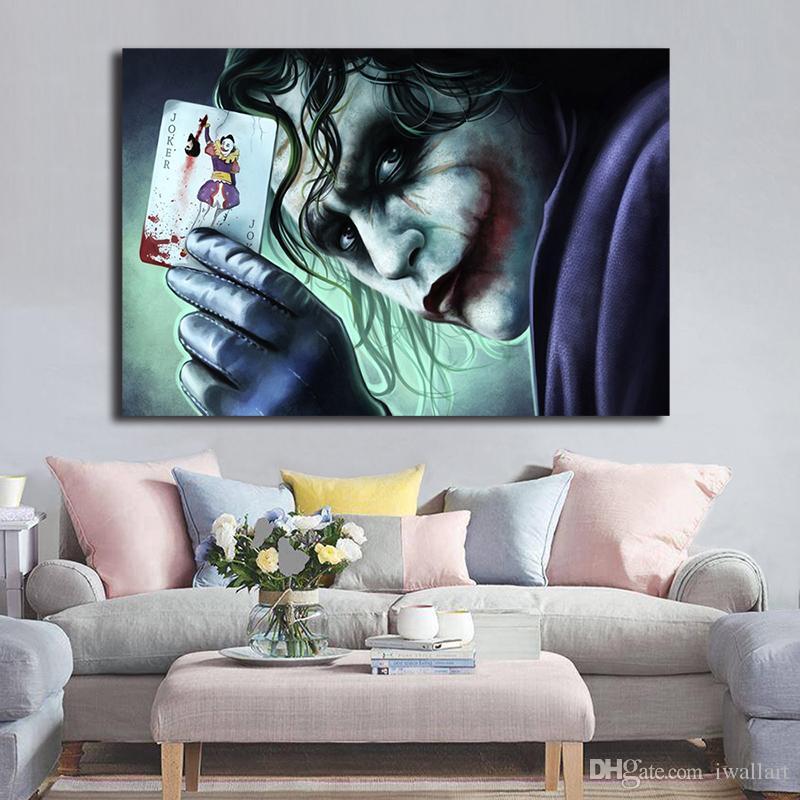 السيد جوكر الأعجوبة فيلم خلفيات الفن قماش المشارك جدارها صورة طباعة للالصفحة الرئيسية للغرفة المعيشة ديكور غرفة النوم