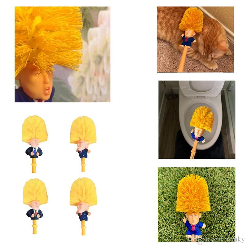 Trump Toilet Brushes Shower Room Ceramic Tile Handle Brush Cleaning Tools Creative Simple Practical Brushes Outdoor Gadgets