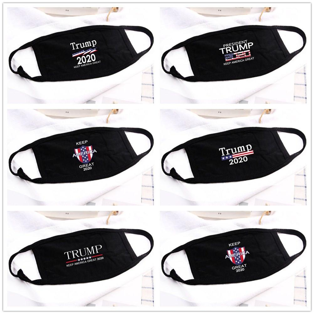 Trump Face Mask пылезащитные многоразовые наружные хлопчатобумажные маски мода мужчины женщины Маска моющаяся письмо Дональд президент США рот Маска FFA4212