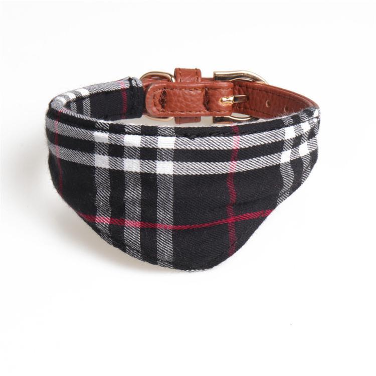 Clásico de la manera de la tela escocesa de mascotas collares ajustables de gama alta para mascotas Gatos perro correa de perro de animal doméstico lindo collar de accesorios al aire libre del Bowknot caen GGJJ39