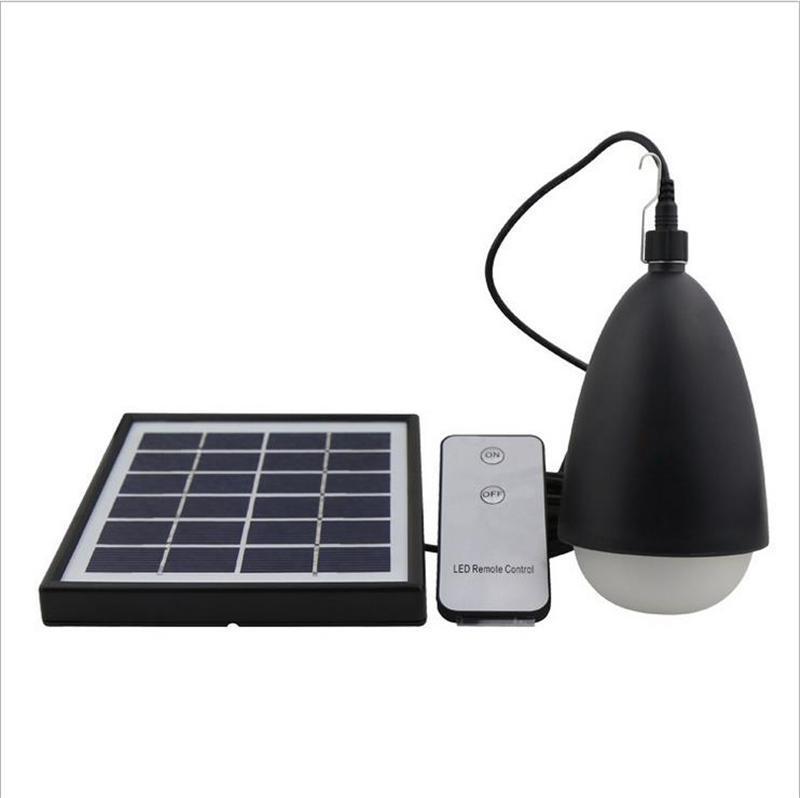 Portatif LED Solar Fener Ampul Uzaktan Kumanda Sensörü güneş lambaları IP65 Açık Suya Yürüyüş Balıkçılık Kamp Çadırı Acil Işık