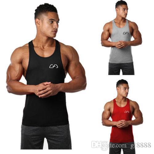Herren Fitness Bekleidung Sport Ärmellos Print Fitness Bodybuilding Stringer Tank Muskel Top Basketball Trikots