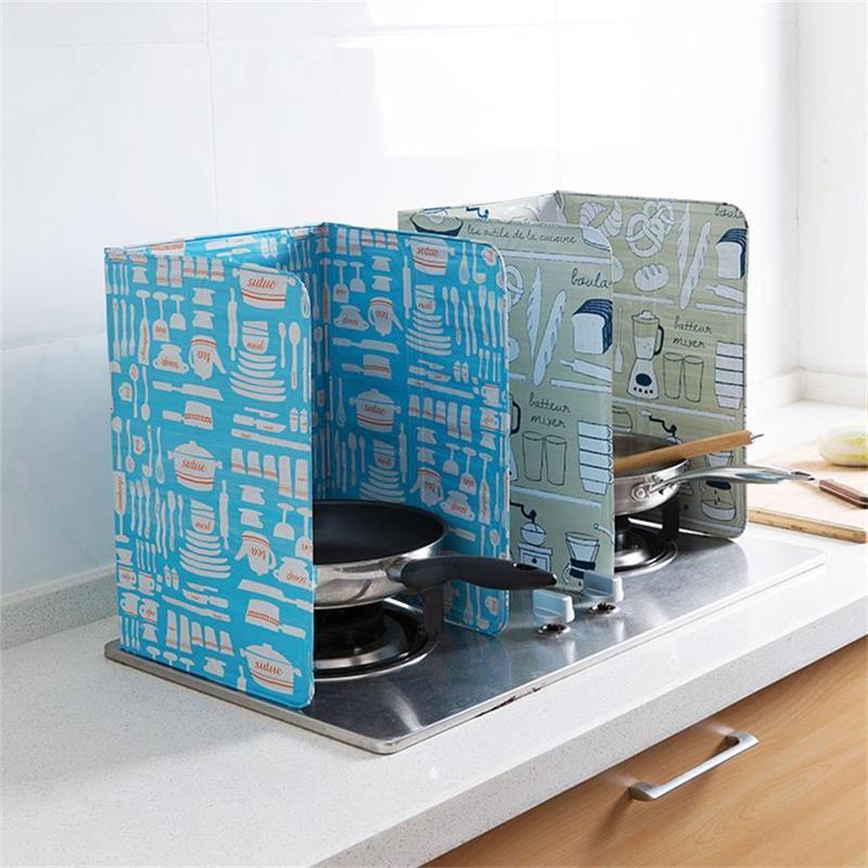 Küche Spritzschutz Küche Kochen Bratpfanne Öl Splash Gasherd Schild Ausblas- Schutz-Schutz-Küchenwerkzeug