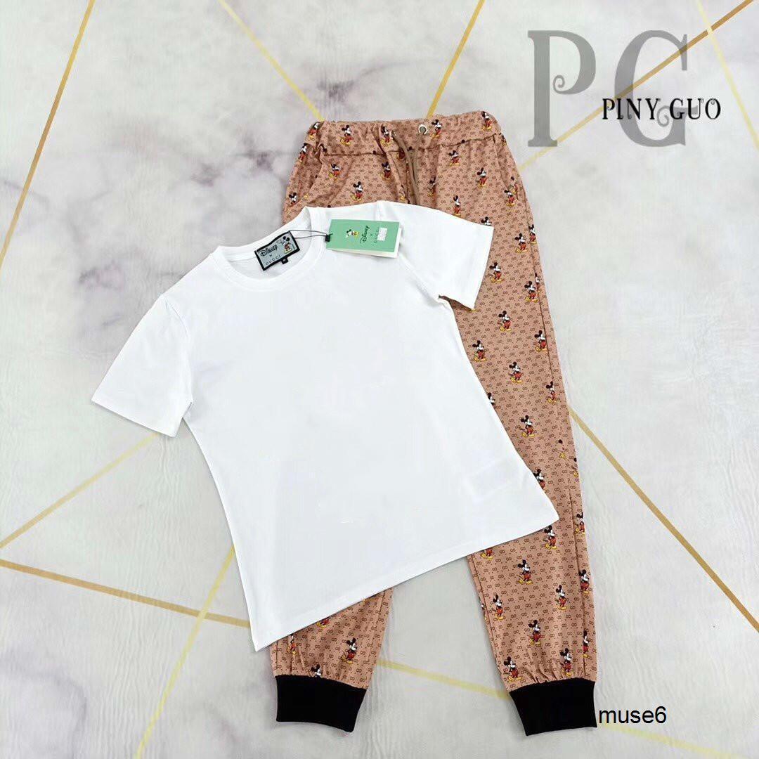 Moda Ve Noble İçin Kadınlar In Summer 040.216 ile 2020 Yeni Kişilik Yuvarlak Yaka, Kısa Kollu Ve Casual Pantolon Suit