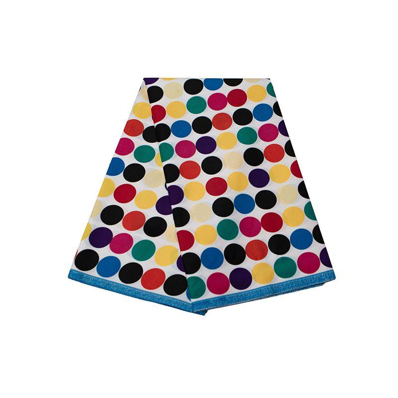 Анкара Африканский полиэстер восковые принты ткань красочный круговой узор высокое качество 6 ярдов Африканская ткань для вечернего платья FP6259