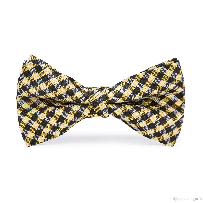 Boys Youth Yellow Pattern Designer Necktie Ties