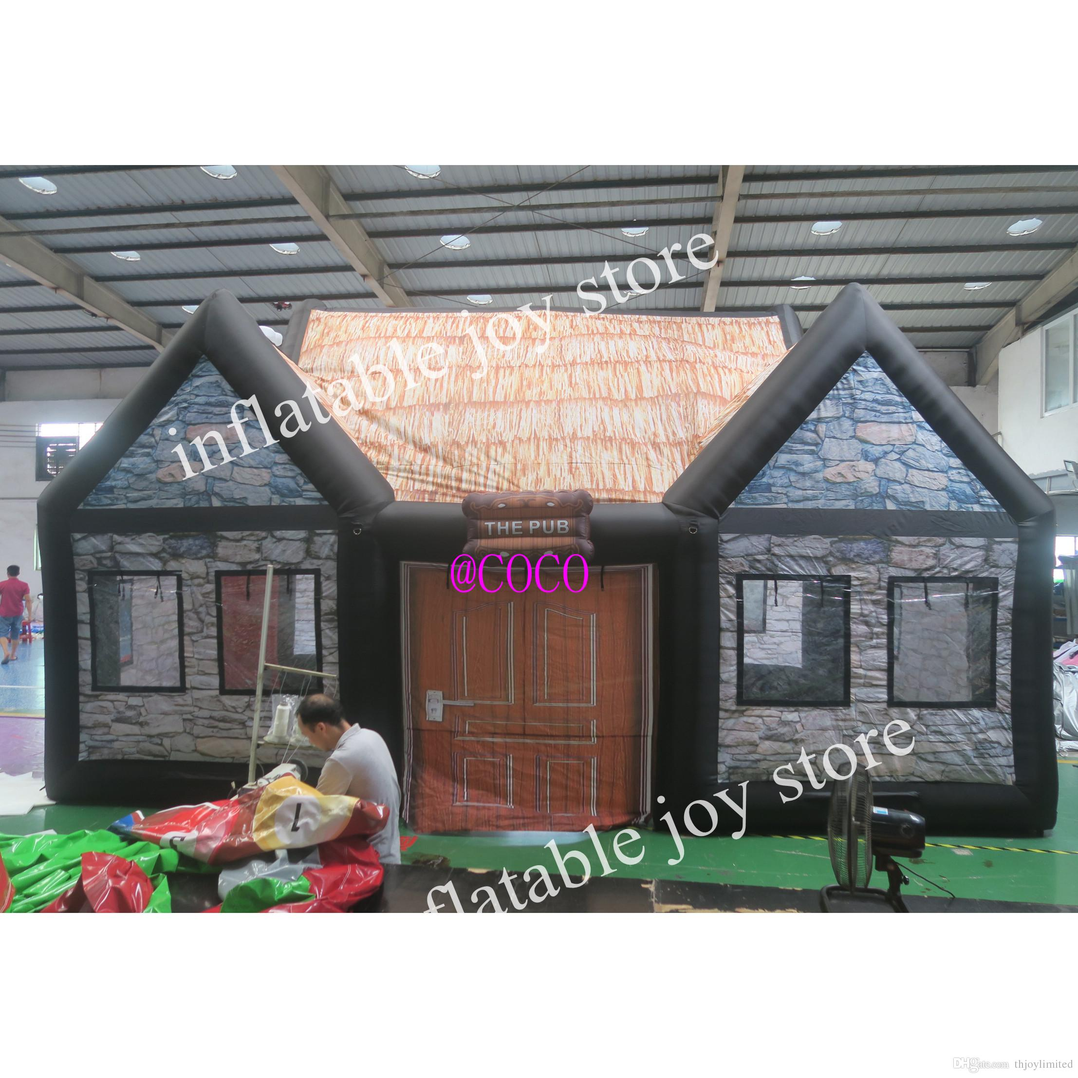 customized inflatable irish pub tent, Popular Outdoor Party Tent House Inflatable Bar tent good quality blow up pub room