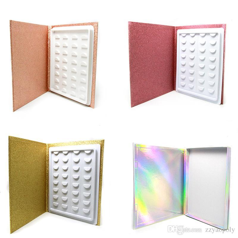 بووك المنك الرموش 3D LOGO 100٪ المنك الفراء الحقيقي اليدوية رمش كاذبة جلدة معبر كتاب كتاب خاص