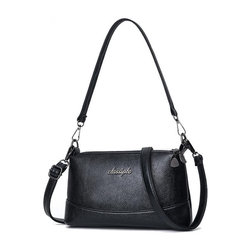 Fashion Women Shoulder Bags Retro Soft PU Leather Mom Messenger Bags Simple Wild Shoulder Crossbody