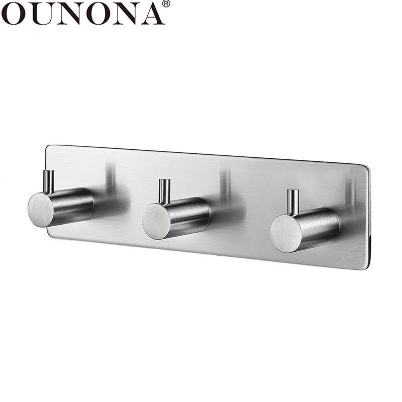 Ounona Door Hooks Stainless Steel Wall, Bathroom Door Hooks