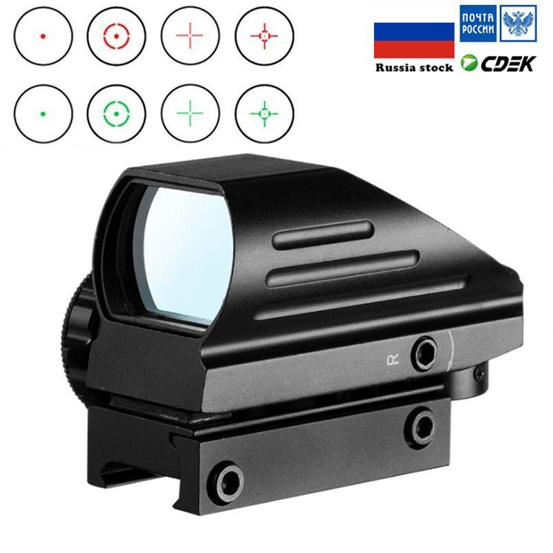 Laser tactique Reflex Rouge Vert 4 Reticle Dot Sight Holographic Projeté Portée Airgun vue chasse 11mm / 20mm Rail Mount AK