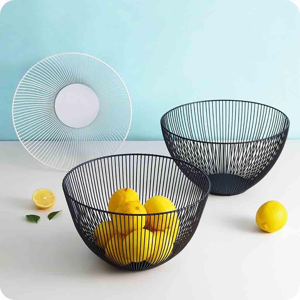 Metal Meyve Sebze Saklama Kapları Mutfak Yumurta Sepetleri Tutucu Nordic Minimalizm d2