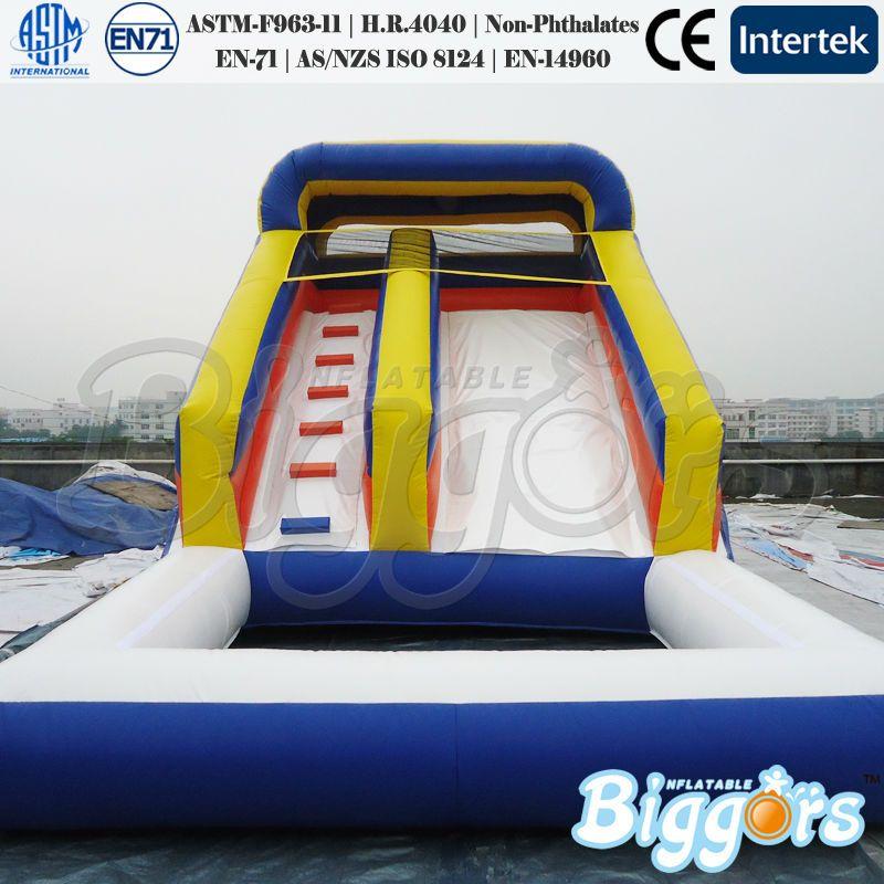 Satış Ticari Sınıf Büyük boy Şişme Slide Büyük Su Havuzu Slide
