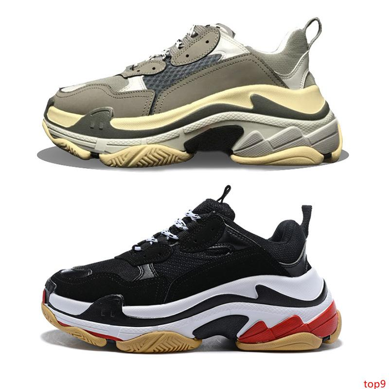 2019 Paris 17FW Triple S Casual Shoes Men Women black red white green pink Fashion Designer Sneakers Sports Chaussures Size 36-45