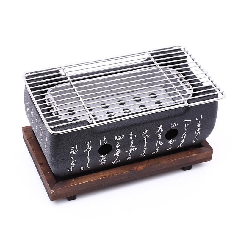 اليابانية الكورية شواء شواء فرن سبائك الألومنيوم الفحم شواء المحمولة حزب الملحقات أدوات الشواء المنزلية