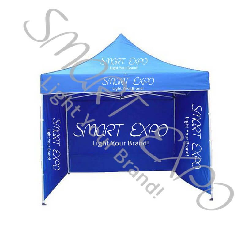 10ft * 10ft Ausstellung Promotion Anzeige Wasserdicht Pop Up Gazebo mit Alurahmen / 300D Vordach / 3 Full Doppel 300D Wände / Wheeled Bag