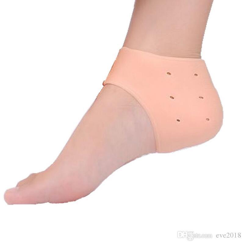 Силиконовый инструмент для ухода за ногами Увлажняющий гель Носки для пяток Трещины по уходу за кожей Протектор Педикюр Мониторы здоровья Массажер LX7904