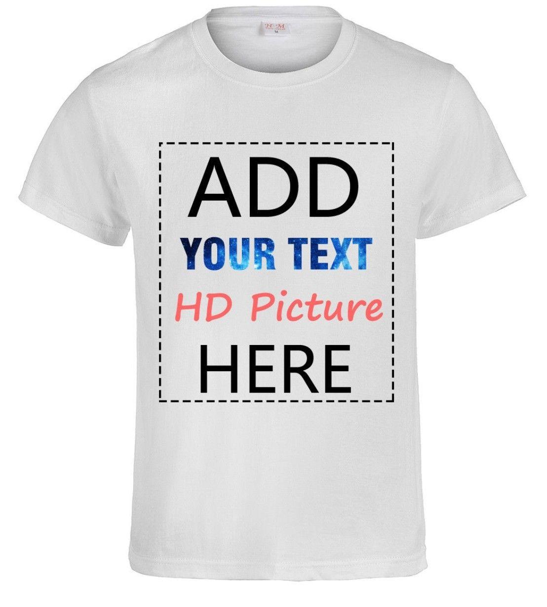 Personalized Custom Print Your Own Text T-Shirt Customized Tee