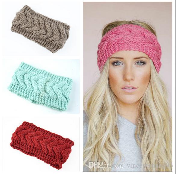 Accessoires pour cheveux doux Crochet Bandeau en tricot Fleur Hairband oreille chaud hiver Headwrap Earmuffs