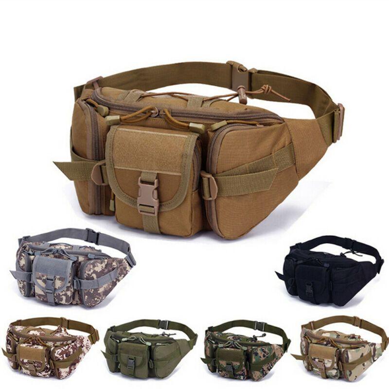 Men Military Tactical Utility Hiking Fanny Pack Waist Belt Pouch Phone Bag Purse