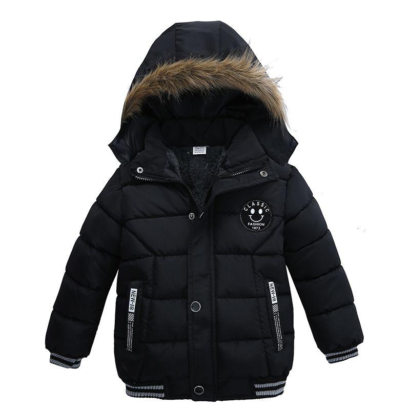 Children's Winter Jacket For Girls Kids Warm Cotton-padded Long Jacket Park Teenage Coat Hoodies Outerwear