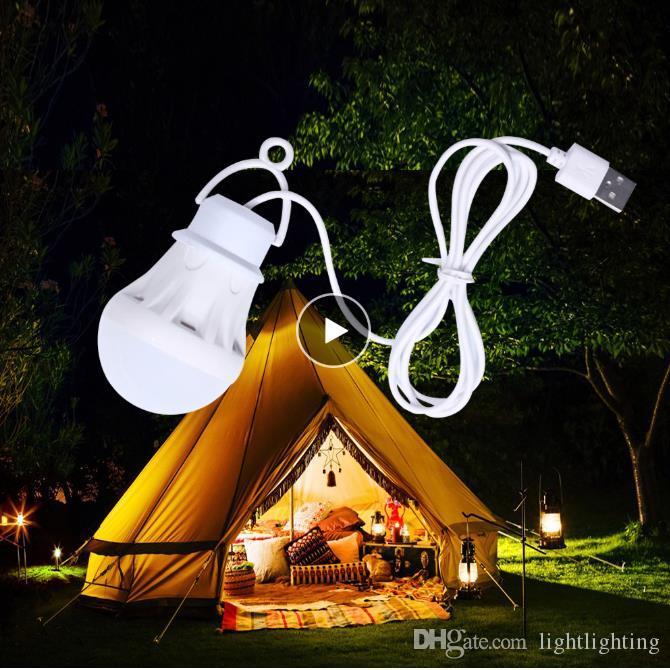 Bewegliche Laterne Camping Lichter USB-Birne 5W / 7W Energien-Bank Campingausrüstung 5V LED Zelt Laternen Camping Wandern USB-Lampe