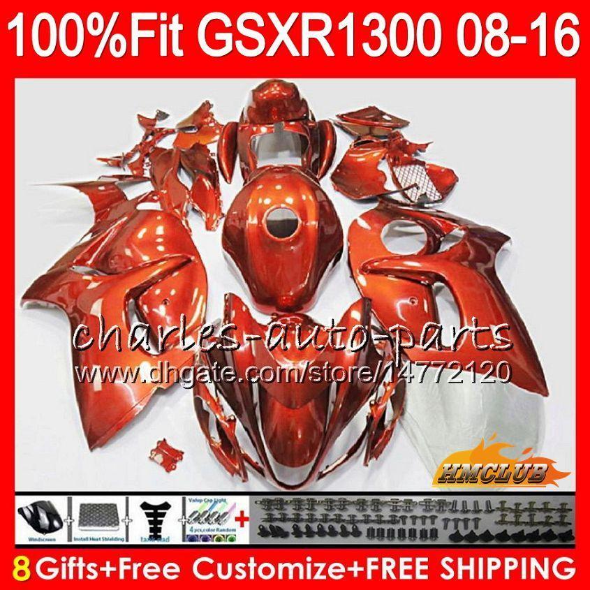 Inyección para SUZUKI GSXR1300 Hayabusa 08 09 10 2008 2009 2010 25HC.80 GSXR 1300 naranja brillante GSXR-1300 11 12 13 2011 2012 2013 Carenado OEM