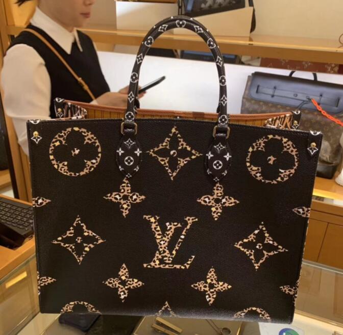 Borsa traversa di modo OnTheGo L lettera di marca borse delle donne Crossbody Borse singolo OnTheGo spalla del monogramma di sacchetto esterno Oblique