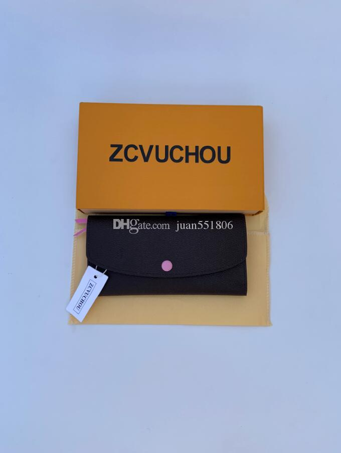 Pochette donna famosa marca stilista frizione genuino del cuoio con il sacchetto di polvere scatola 60136