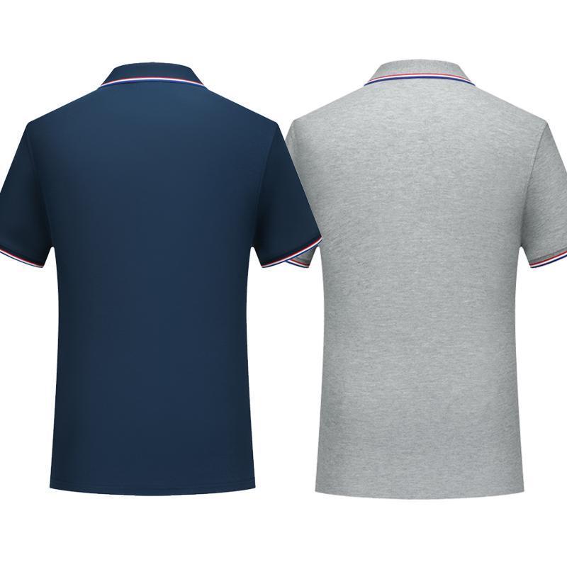 Самый модный Новый мерсеризированный хлопок полосатый воротник с короткими рукавами рубашки поло мужчин и женщин молодежи отворот рубашки поло Цвет Синий Половина Сли