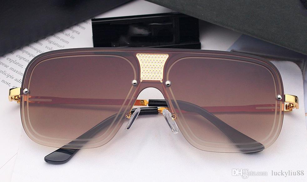 Grande metal quadrado óculos de armação gradiente de cor pé show de óculos de sol Europeu e óculos de sol tendência americanas 5 cores ouro, prata fra