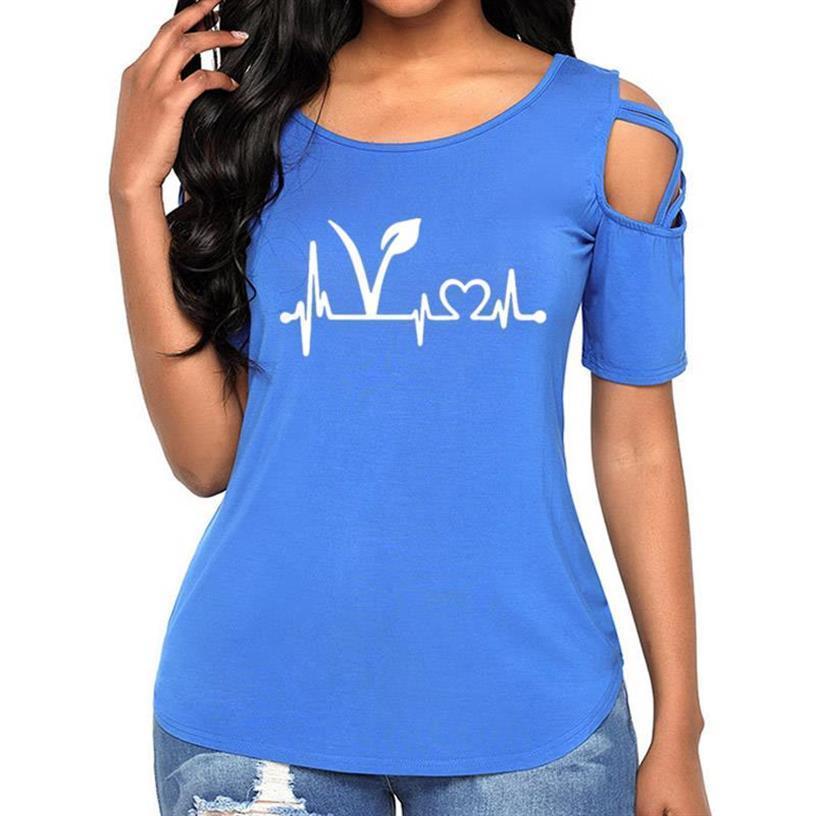 2019 New Fashion Bandage Off Shouldert-Shirt Für Frauensitz Obst Nicht Freunde Lebensmittel Vegane Buchstaben Druck Frauen T-Shirt Weibliche Harajuku