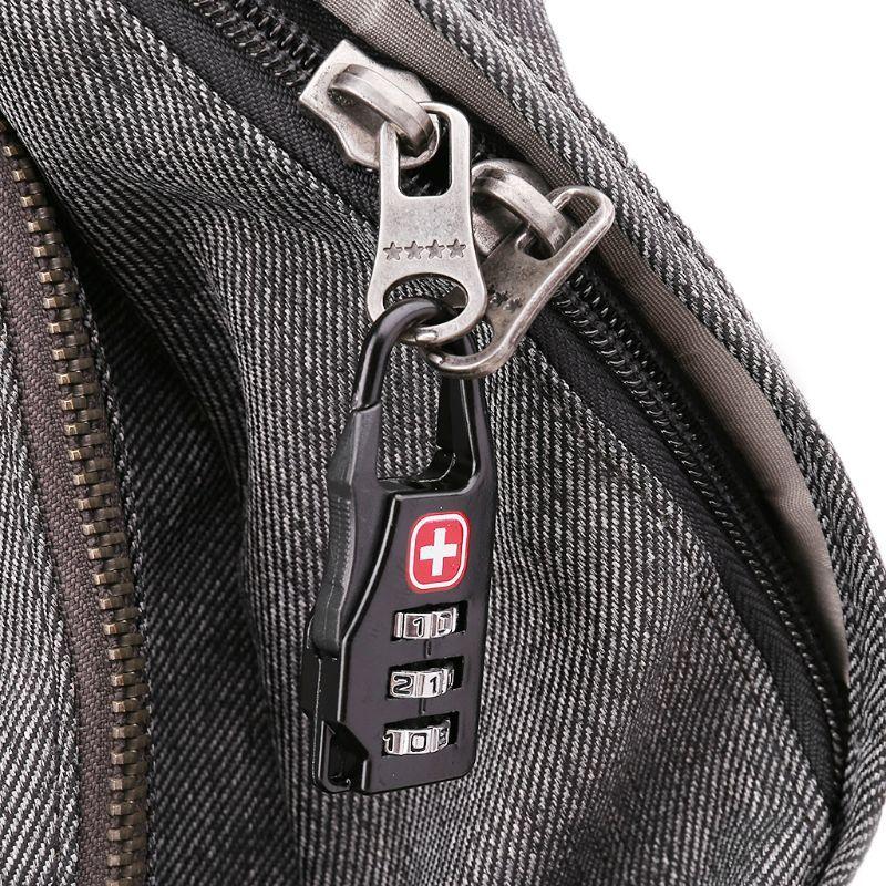 THINKTHENDO Símbolo Cruz Combinação Código Seguro Mini Cadeado bagagem de viagem Number Lock