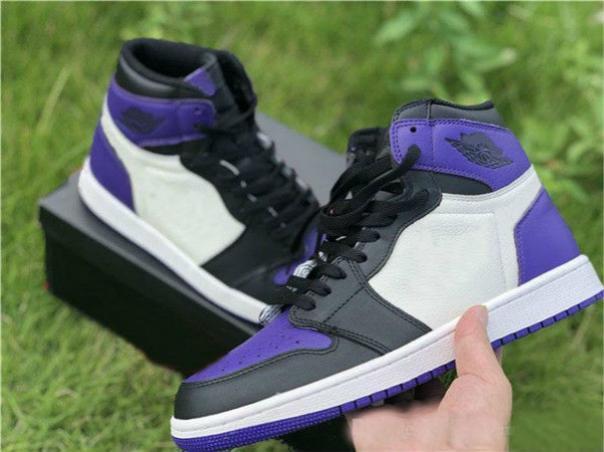 2019 Nouveau 1 Je haute og vert pin blanc violet cour hommes de basket-ball chaussures designer 1 s sneakers sport en plein air formateurs 12