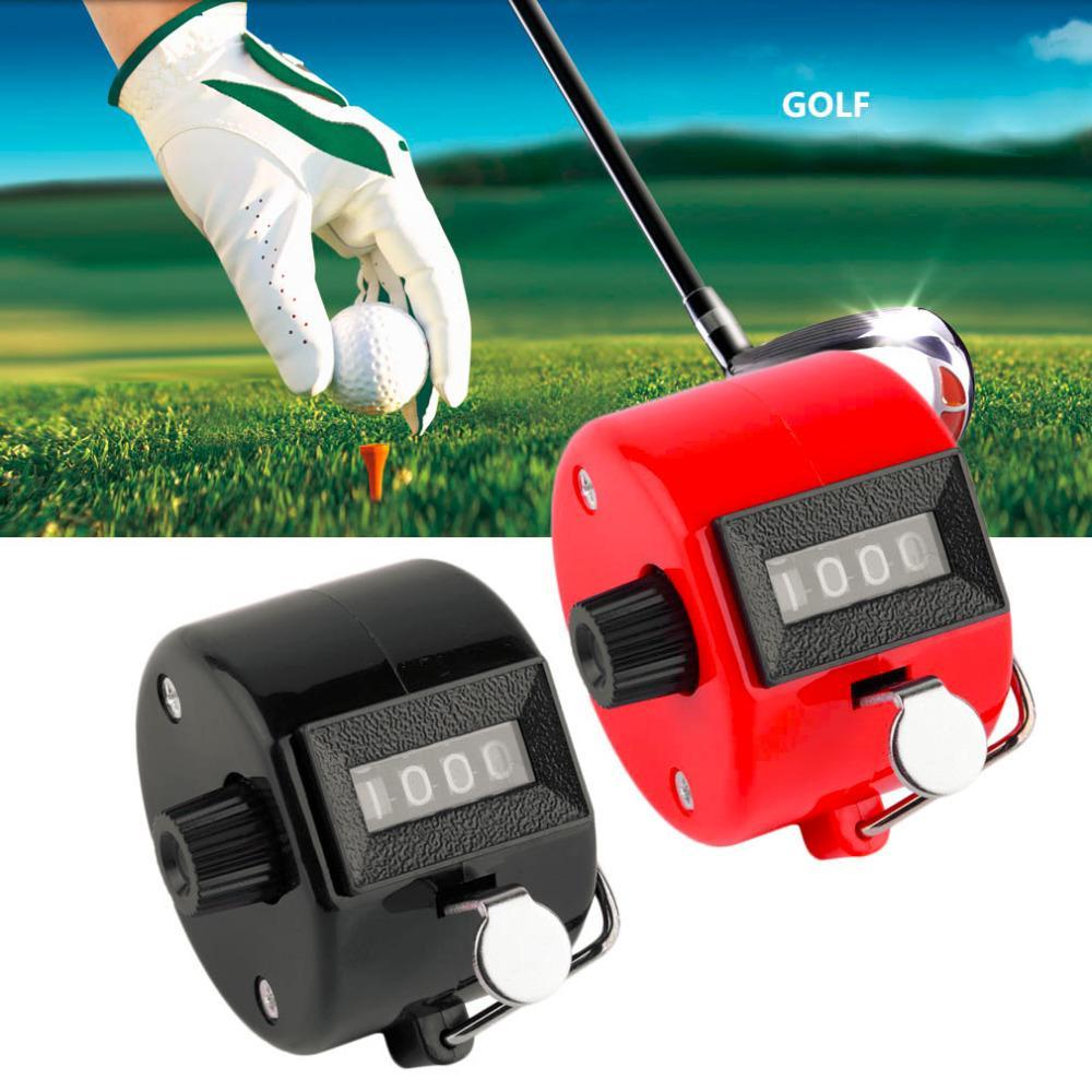 4 cifre portatile conveniente di plastica + metallo tenuto in mano manuale del contatore del riscontro Clicker numero di conteggio Golf Due colori disponibili