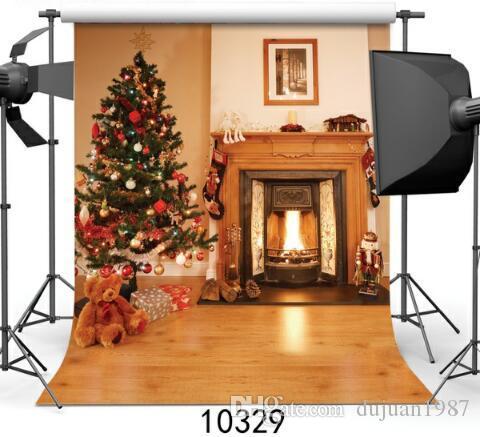 Винил Пользовательские Фотографии Фонов Опора Цифровой Печатный Рождество тема фотостудия Фон HJ33