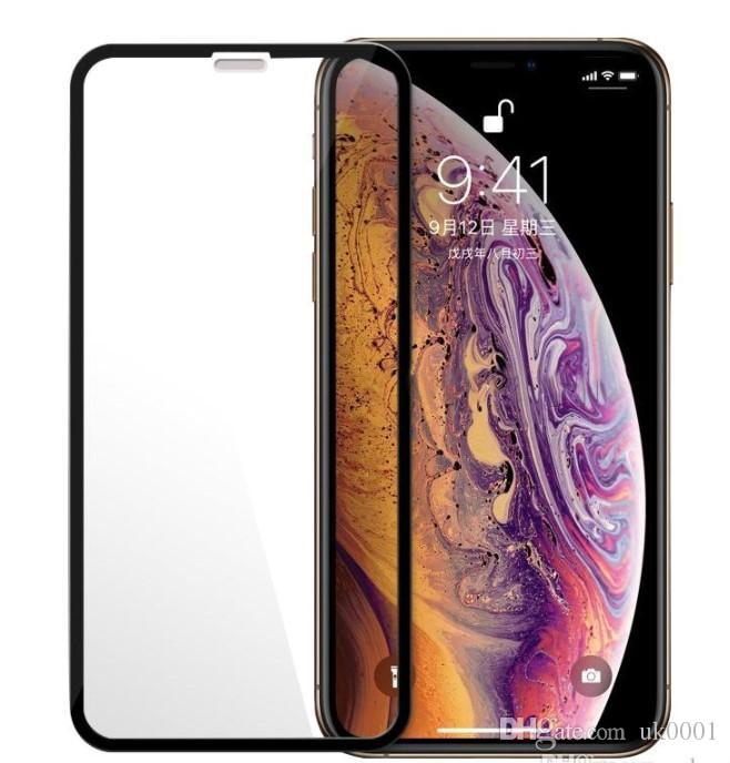 UK Full Glue Cover Tempered Glass Screen Protector For iPhone XS MAX X XR 8 7 Samsung J6 J7 J8 A7 A8 2018