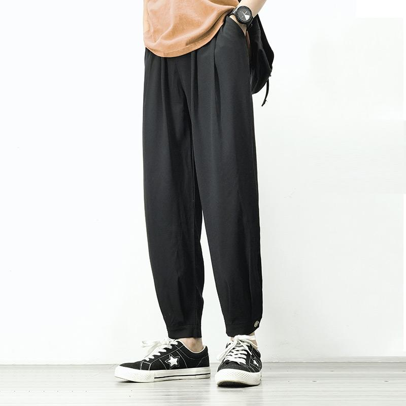 Joggers Harem Pantalon homme homme noir Confortable pantalon d'été Casual Streetwear loose pantalon japonais à la mode Sweatpants