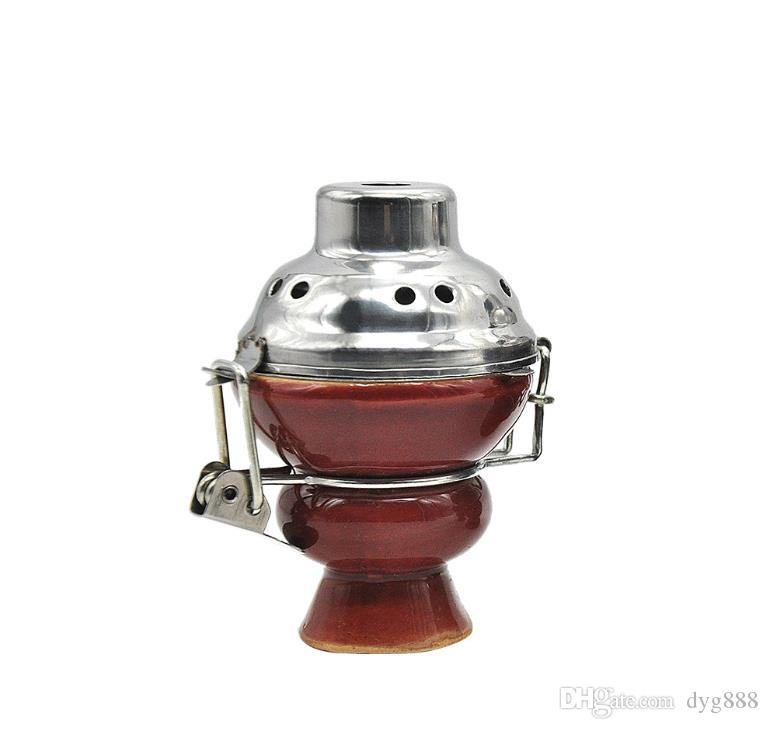 Ciotola in ceramica acqua-fumo con coperchio