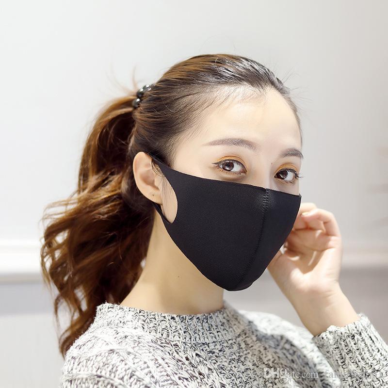 Gümrükleme olarak Stok !!! YENİ Anti Toz Yüz Ağız Kapak PM2.5 Respiratörü toz geçirmez anti-bakteriyel Yıkanabilir Yeniden kullanılabilir Sünger Maskesi Aracı Maske