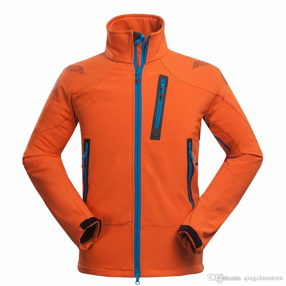 Envío gratis versión de luz caliente para hombre acampar al aire libre senderismo chaqueta deportiva rompevientos chaqueta de concha suave tops al aire libre 1527