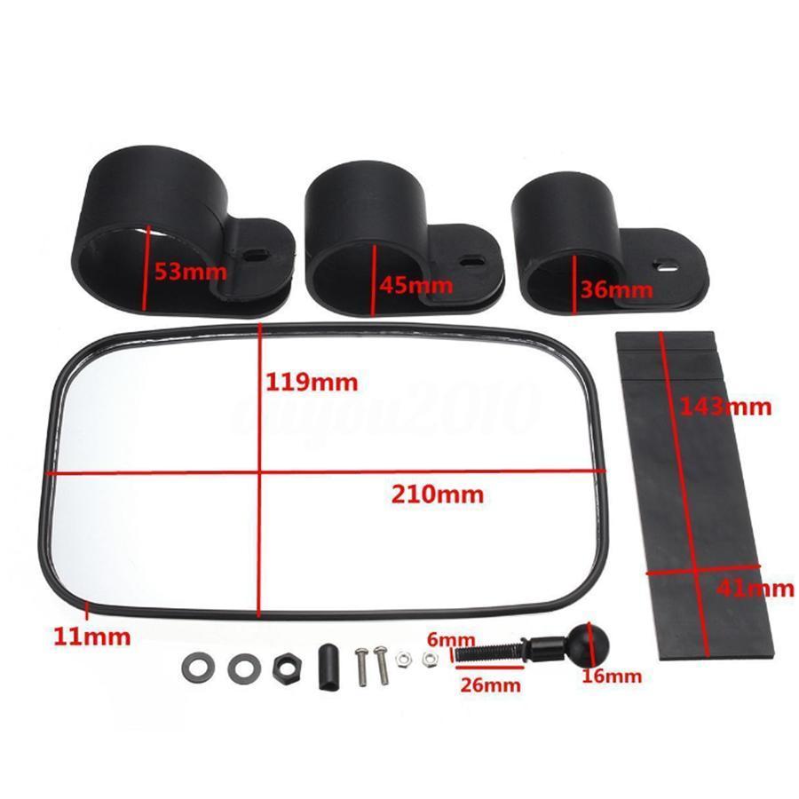 Hot Sale High Quality 1.5/1.75/2 Inch Black Rear Mirror For ATV UTV Offroad