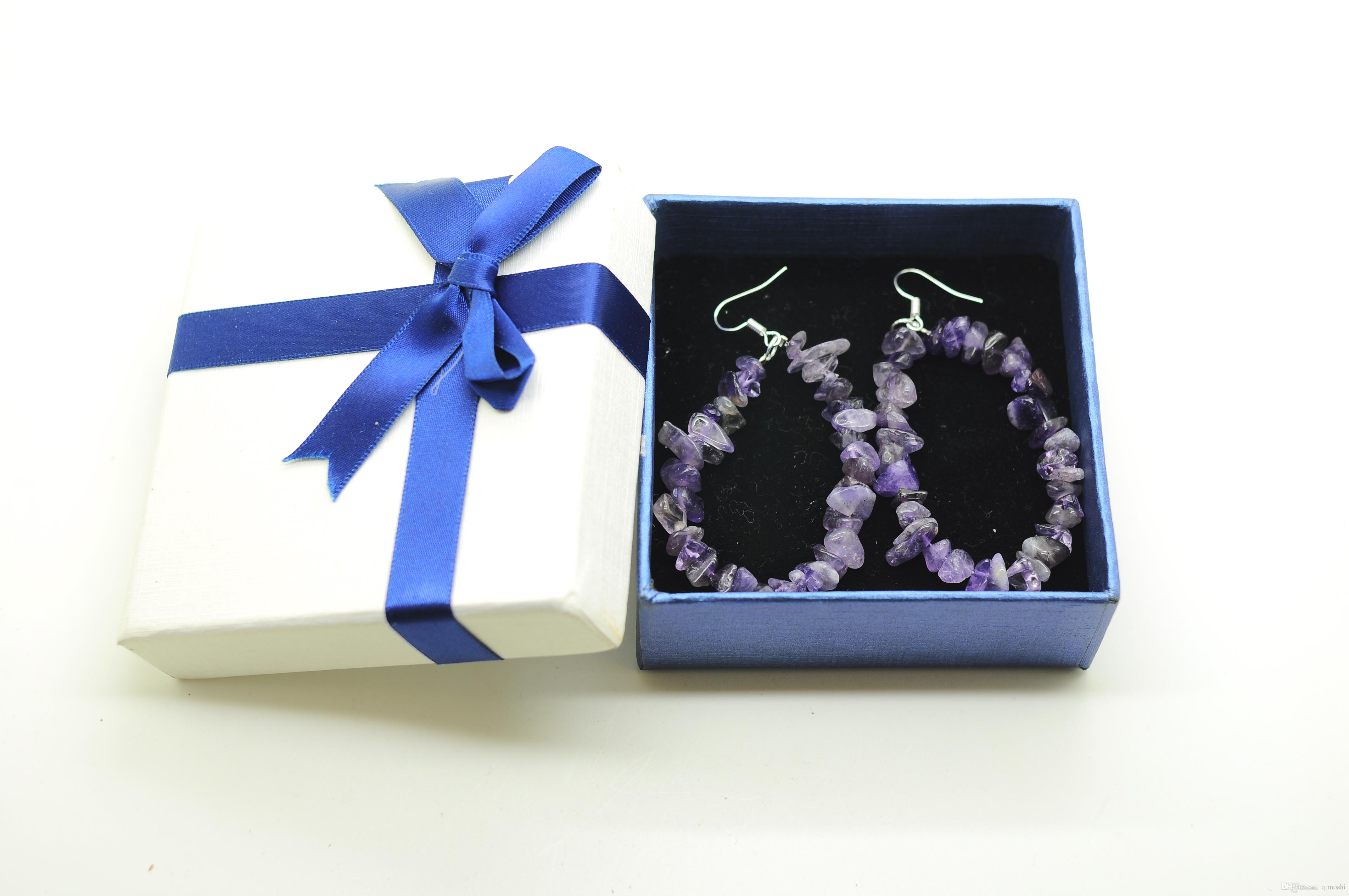 Crystal gravel earrings female dress cocktail fashion jewelry treasure jewelry