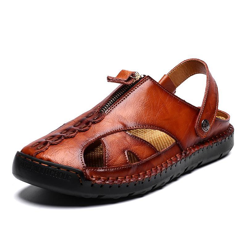 Fashion Retro Summer Leather Sandals