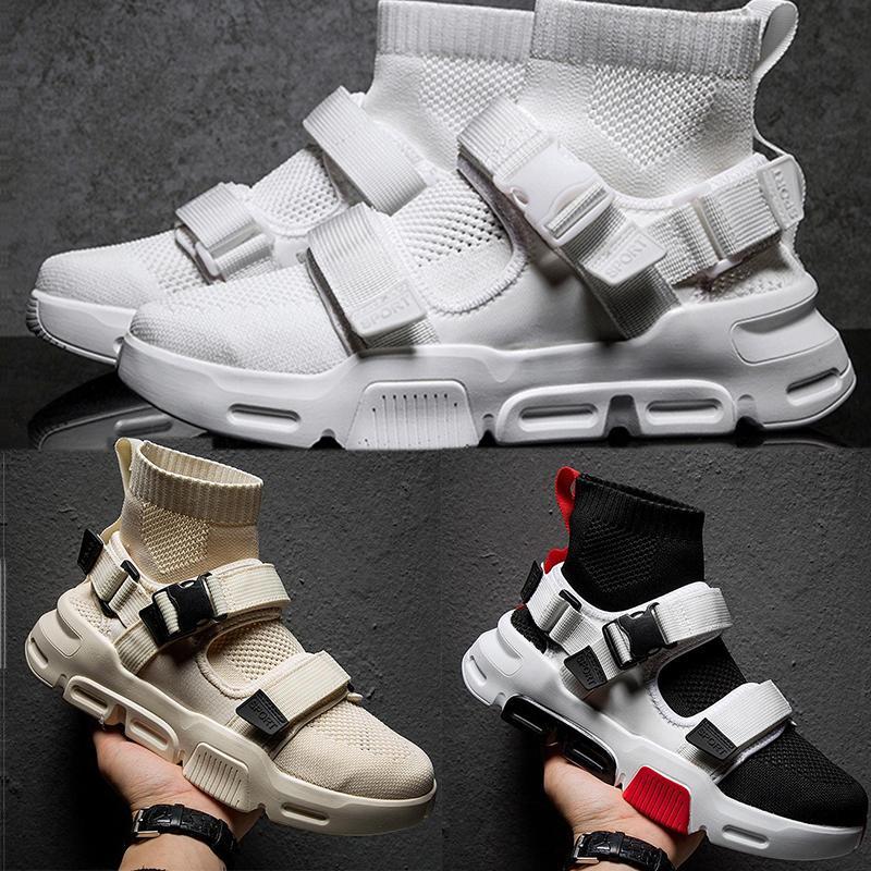 2019 zapatillas de deporte de moda elegantes de alta transpirable superior calcetín para los zapatos de los hombres calcetines