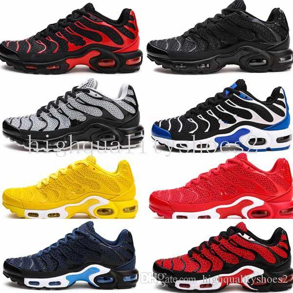 Nike TN air max 2018 airmax Vapormax TN Plus أحذية الجري للرجال خفيفة الوزن تنفس m82 أزرق أبيض أسود أحذية رياضية في الهواء الطلق Tn أحذية رياضية يورو 40-45